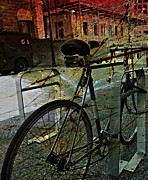 Old Greeting Cards Prints - Grunge Street Print by Jerry Cordeiro