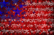 4th July Digital Art Posters - Grunge textured of USA flag for USA Independence Day Poster by Theeravat Boonnuang