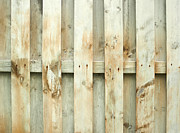 Wooden Fence Posters - Grungy old fence background Poster by Blink Images