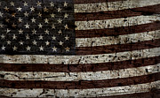 Flag Of Usa Posters - Grungy Wooden Textured USA Flag2 Poster by John Stephens