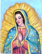 Catholic Art Painting Originals - Guadalupe by Susan  Clark
