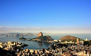 Aerial View Framed Prints - Guanabara Bay Framed Print by Luiz Felipe Castro