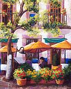 Balconies Pastels Framed Prints - Guanajuato Cafe Framed Print by Candy Mayer