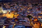 Guanajuato Art - Guanajuato Lit Up At Night by David Evans