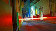 Shadow Metal Prints - Guanajuato Night Metal Print by Skip Hunt