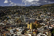 Birdseye Photo Metal Prints - Guanajuato Vista Metal Print by Lynn Palmer
