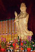 Woman Acrylic Prints - Guanyin Bodhisattva - Jinans rare female Buddha Acrylic Print by Christine Till - CT-Graphics