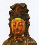 Guanyin Art Framed Prints - Guanyin, Chinese Goddess Of Mercy Framed Print by Photo Researchers