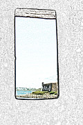 El Morro Digital Art - Guard Tower View Castillo San Felipe Del Morro San Juan Puerto Rico Colored Pencil by Shawn OBrien