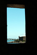 Castillo San Felipe Digital Art - Guard Tower View Castillo San Felipe Del Morro San Juan Puerto Rico Watercolor by Shawn OBrien
