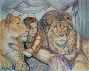 Harem Metal Prints - Guarded by Lions Metal Print by Martin Lagewaard
