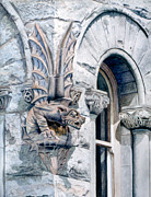 Gargoyle Paintings - Guardian Angel by Bob Nolin