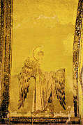 Byzantine Icon Posters - Guardian Angel Byzantine Art Poster by Artur Bogacki