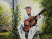 Guitar God Painting Originals - Guardian Angel by David Paul