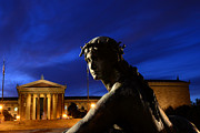Philadelphia Museum Of Art Prints - Guardian Angel of Art Print by Paul Ward