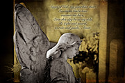 Christian Prayer Photos - Guardian Angel Prayer by Bonnie Barry