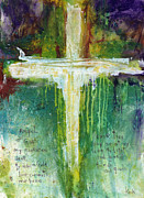 Cross Painting Prints - Guardian Angel Prayer Print by Michel  Keck