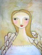 Angel Art Paintings - Guardian Angel by Shelley Szczucki
