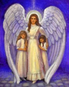 Guardian Angel Painting Posters - Guardian Angel Poster by Sue Halstenberg