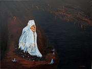 Hooded Figure Prints - Guardian of the Dark Print by Carl Taylor
