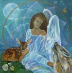 Dream Catcher Paintings - Guardian of Truth by Sundara Fawn