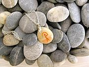 Charm Necklace Jewelry - GUARDIAN pebble necklace by Melanie Bourne