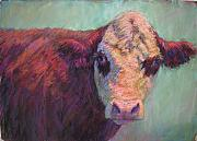 Farm Animals Pastels Prints - Guardian Print by Susan Williamson