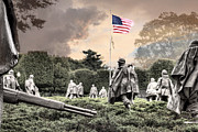 Korean War Memorial Photos - Guardians by JC Findley