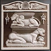 Cats Reliefs - Guardians of the East and West by Donald R Ricker