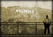 Guarding Hollywood Print by Ricky Barnard