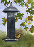 Birdseed Art - Guarding the Loot by Marsha Elliott