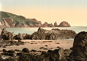 """english Channel Islands""  Posters - Guernsey - Moulin Huet Bay - Channel Islands - England Poster by International  Images"