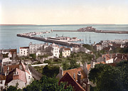 """english Channel Islands""  Posters - Guernsey - St. Peters Port and Harbor - Channel Islands - England Poster by International  Images"