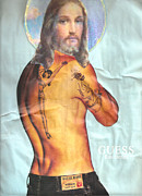 Interpretation Mixed Media Prints - Guess Jesus Print by Jaime  Becker
