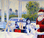 Sight Hound Painting Posters - Guess Whos Coming to Dinner Poster by Terry  Chacon