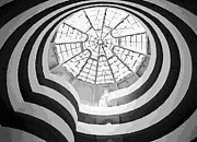 Nyc Digital Art Metal Prints - Guggenheim Museum BW16 Metal Print by Scott Kelley