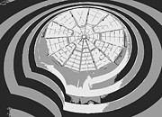 Nyc Digital Art Metal Prints - Guggenheim Museum BW3 Metal Print by Scott Kelley