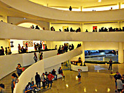 Art-lovers Prints - Guggenheim Museum Interior Print by Allan Einhorn