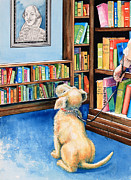 Kids Book Illustrator Prints - Guide Dog Training Print by Hanne Lore Koehler