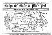 Nebraska. Posters - Guide To Pikes Peak, 1859 Poster by Granger