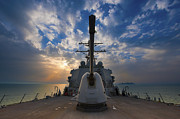 Turret Prints - Guided-missile Destroyer Uss Higgins Print by Stocktrek Images