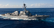 Meyer Prints - Guided-missile Destroyer Uss Wayne E Print by Stocktrek Images