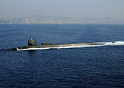 Naples Photos - Guided-missile Submarine Uss Georgia by Stocktrek Images
