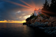 Bass Harbor Photos - Guiding Light by Bernard Chen