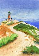 Mediterranean Landscape Prints - Guiding Light Print by Marsha Elliott