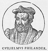 Vitruvius Metal Prints - Guillaume Philandrier, French Humanist Metal Print by Middle Temple Library