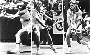 Racket Framed Prints - Guillermo Vilas L, Brian Gottfried M Framed Print by Everett