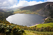 Dreary Prints - Guinness Lake in Wicklow Mountains  Ireland Print by Semmick Photo