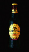 Beer Bottle Posters - Guinness Poster by Wingsdomain Art and Photography