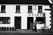 Public House Prints - Guirys Irish Pub Foxford County Mayo Ireland Print by Joe Fox